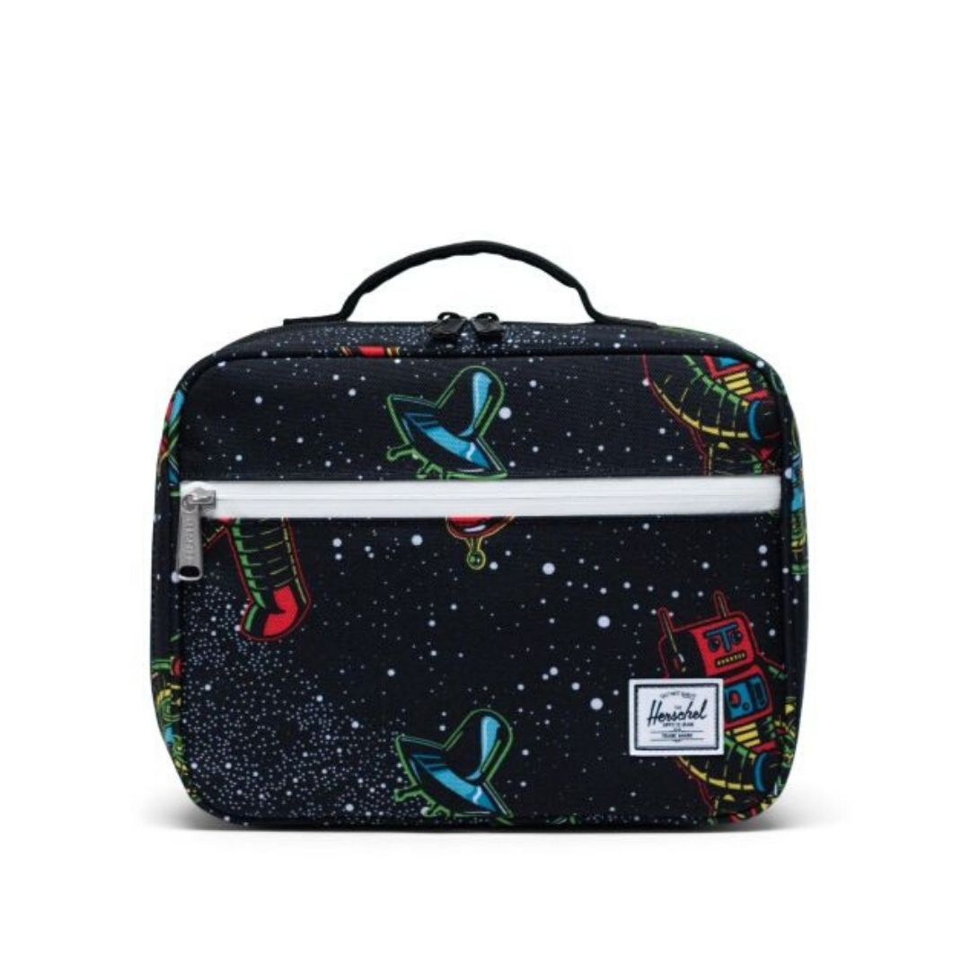 10227-03893-OS- Herschel Pop Quiz Lunch Box - Space Robots Lunch Box Herschel