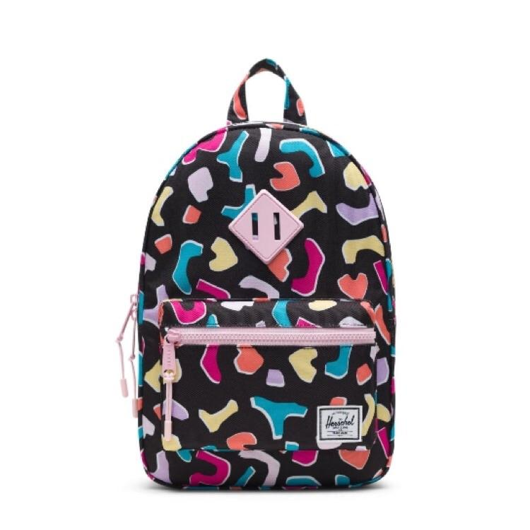 10313-02749-OS-Herschel Kids Heritage 9L Backpack - Fiesta/Pink Lady Backpack Herschel