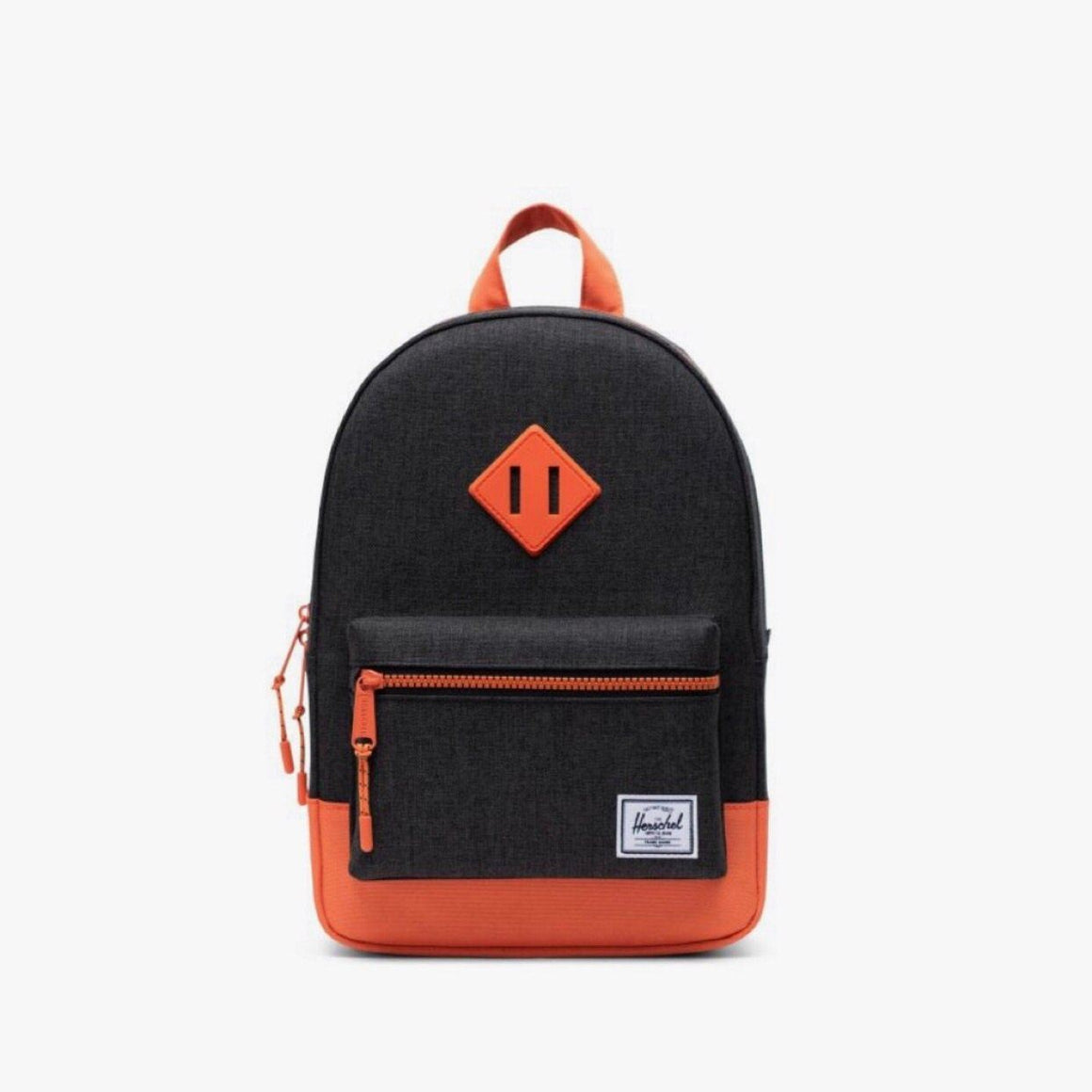 10313-03256-OS-Herschel Kids Heritage 9L Backpack - Black Crosshatch/Firecracker Backpack Herschel
