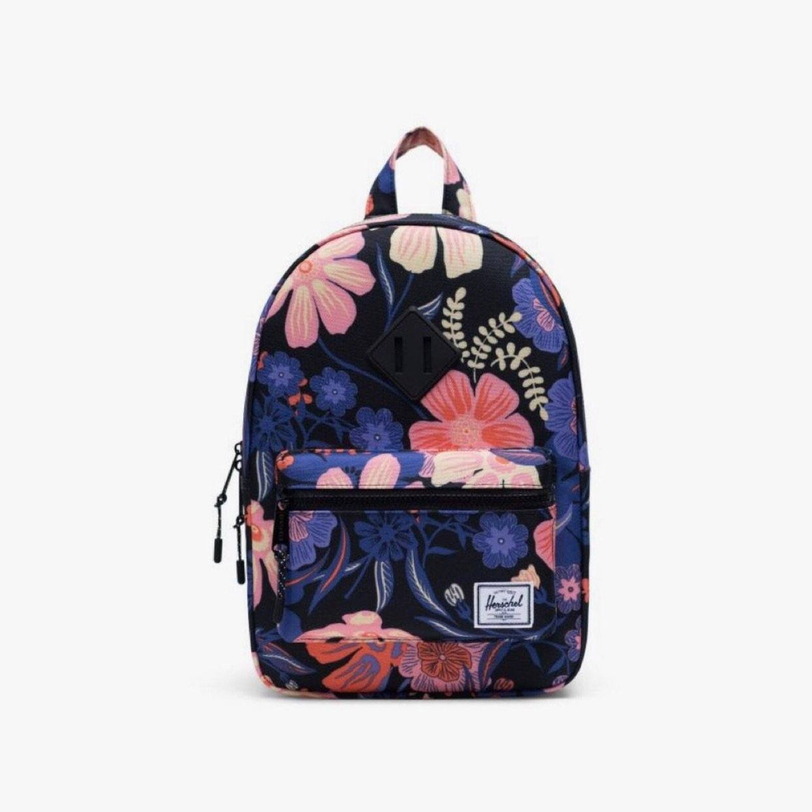 10313-03264-OS-Herschel Kids Heritage 9L Backpack - Night Floral Black Backpack Herschel