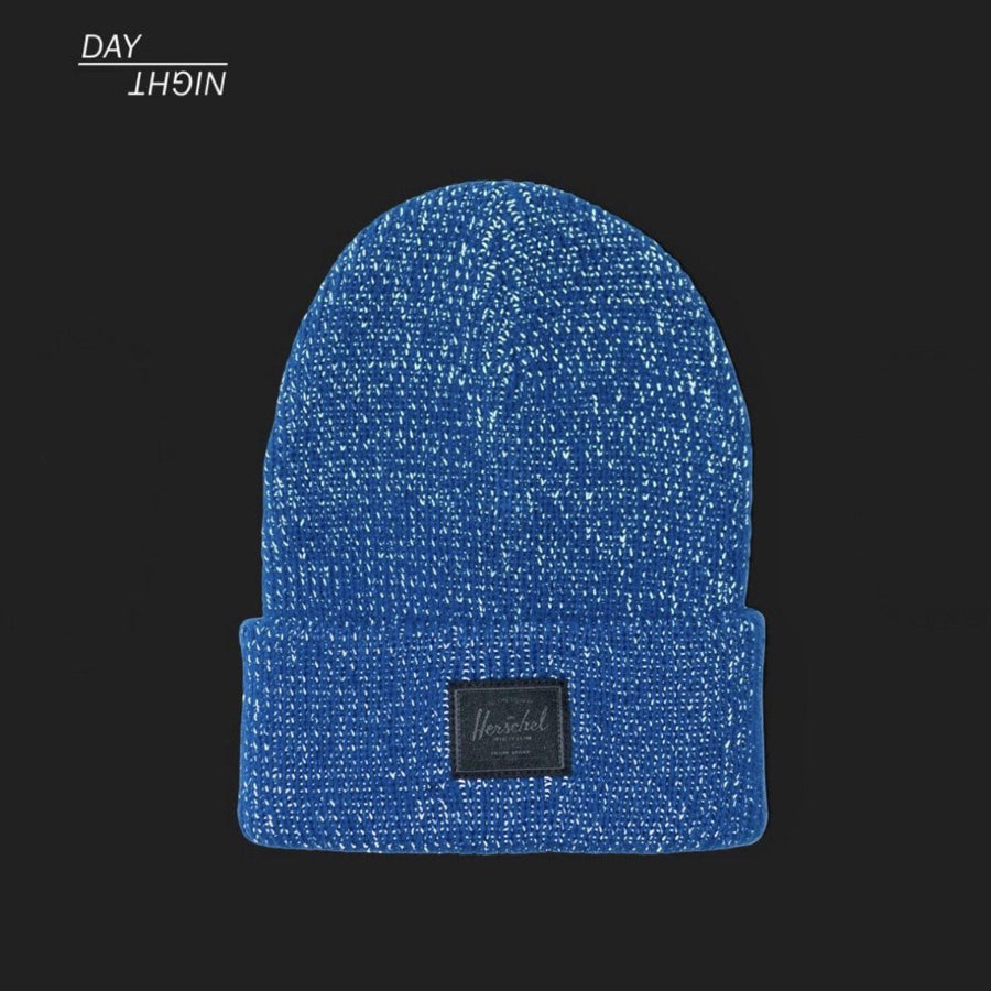 1036-1100-OS-Herschel - Abbott Youth Beanie Hat - Monaco Blue Reflective Hats Herschel