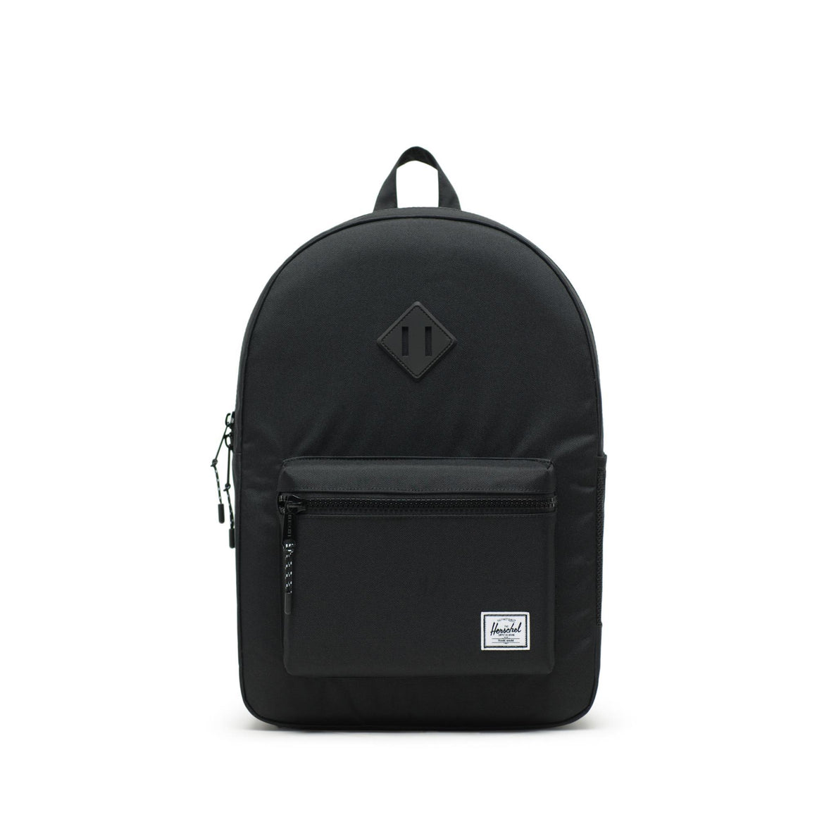 10560-00155-OS-Herschel Heritage Youth XL 20 L Backpack - Black Rubber Backpack Herschel