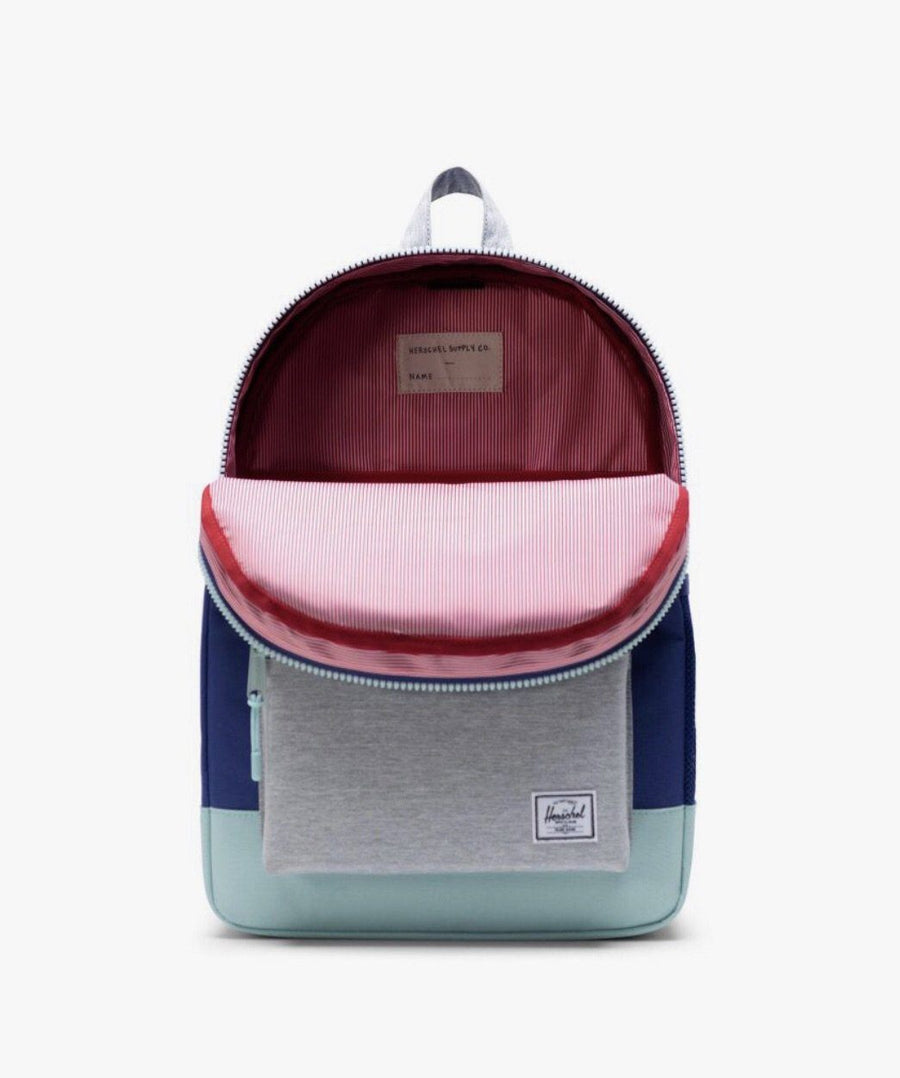10560-03265-OS-Herschel Heritage Youth XL 20 L Backpack - Orient Blue/Light Grey Crosshatch/Eggshell Blue Backpack Herschel