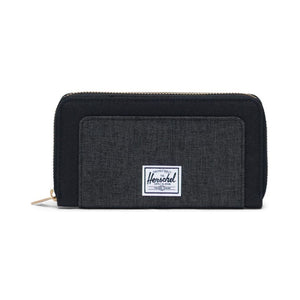 10769-03520-0S - Herschel Thomas Wallet - Black/Black Crosshatch Wallet Herschel