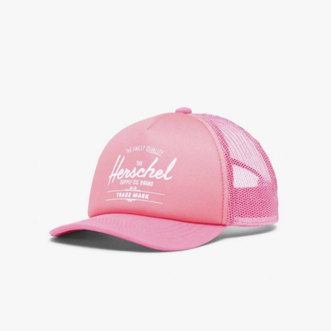 1119-1243-OS - Herschel Sprout/Baby Whaler Cap - Peony/Neon Pink (Up to 2 Years of Age) Hats Herschel