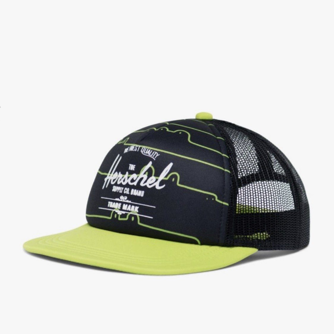 1122-1046-OS Herschel Whaler Cap - Later Gaitor / Lime Green (5+ Years) Hats Herschel