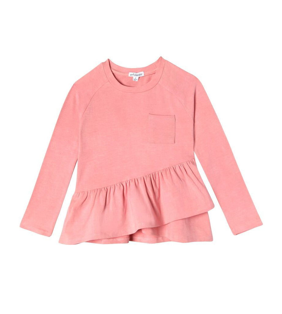 1402 - Art & Eden Kandice Organic Cotton Baby & Girls Blush Long Sleeve Shirt Long Sleeve Shirts Art & Eden