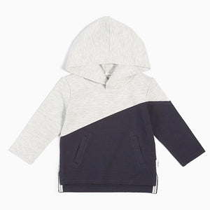 19FM44M730 - MILES BABY Steep Color Block Hooded Sweatshirt Sweatshirt Miles Baby
