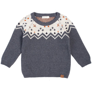 19FM46P696- MILES BABY - Heather Beige Knitted Sweater Sweater Miles Baby