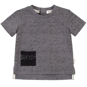 19SM25M523 Miles Baby Medium Grey Contrast Pocket Tee Short Sleeve Shirts Miles Baby