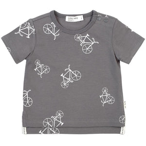 19SM25M525- Miles Baby Grey Velo Tee Short Sleeve Shirts Miles Baby