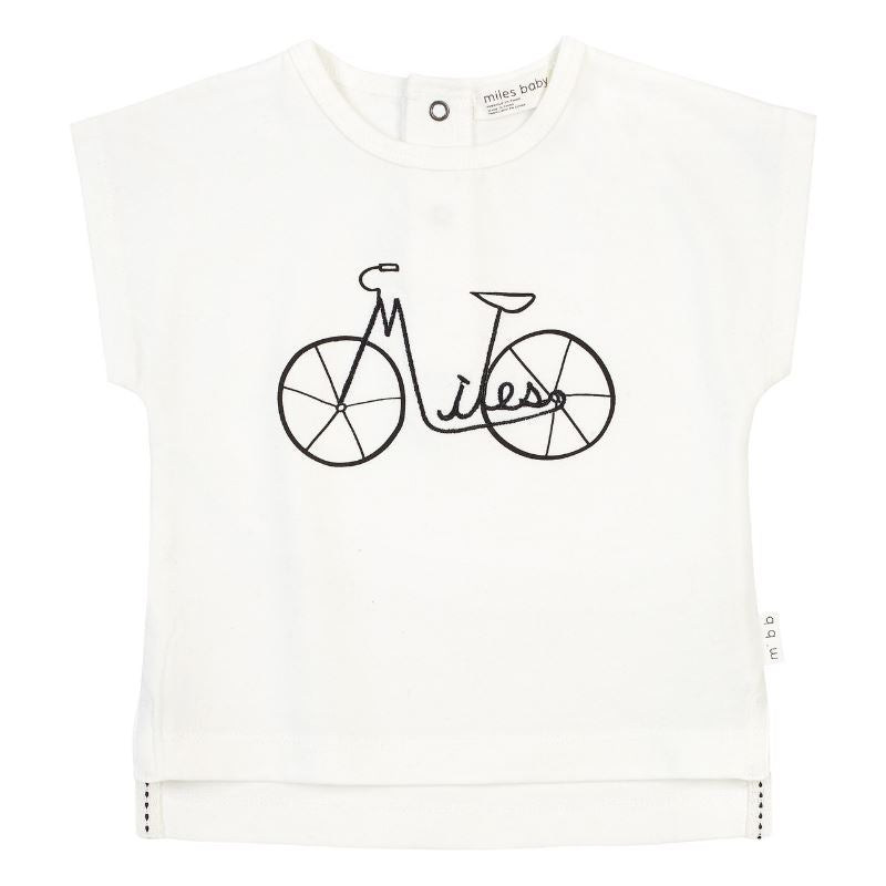 19SM26M533 Miles Bicycle Off White Tee Short Sleeve Shirts Miles Baby