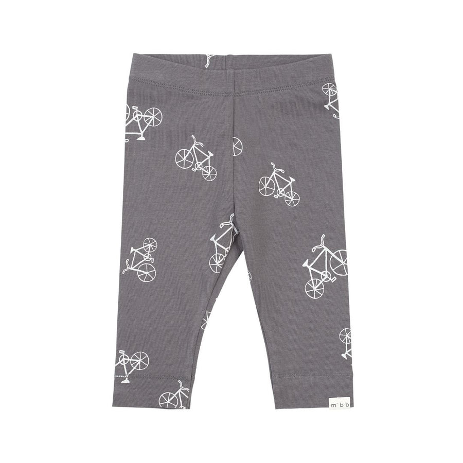 19SM26R539 MILES BABY - Bicycle Print Leggings - Medium Grey Leggings Miles Baby