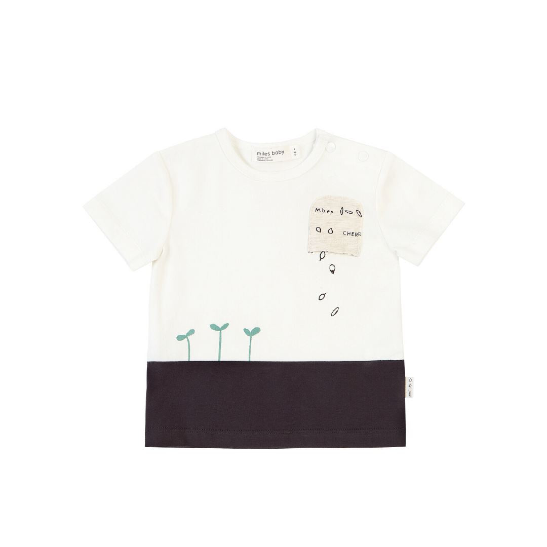 19SM27M551 MILES BABY - Off White Pocket Tee Short Sleeve Shirts Miles Baby