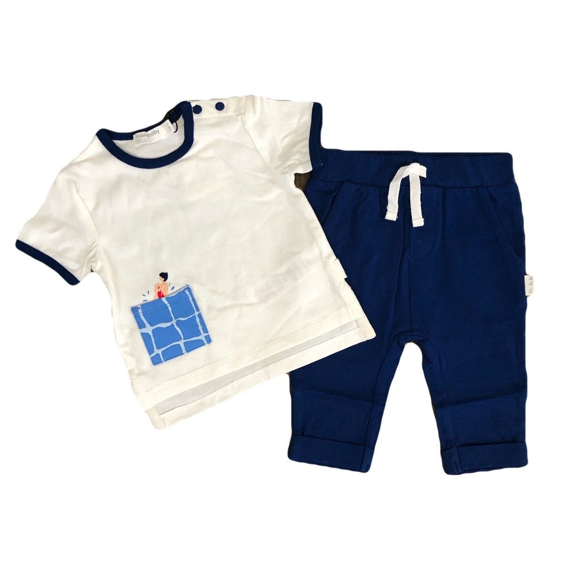 19SM30K866 Miles Baby Off White Pool Jumper 2 Piece Set Miles Baby