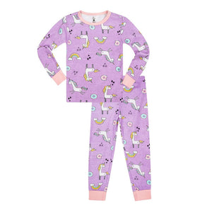 19ST03A873 Petit Lem - Purple Unicorn Pajama Set (2 pcs.) Pajamas Petit Lem