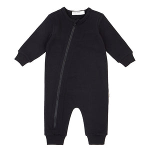 19YM36L640 - Miles Basic Unisex Baby Black Playsuit Jumpsuits / Rompers Miles Baby