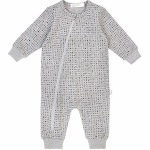 19YM36L642 - Miles Basic Unisex Baby Heather Grey Splashed Playsuit Jumpsuits / Rompers Miles Baby