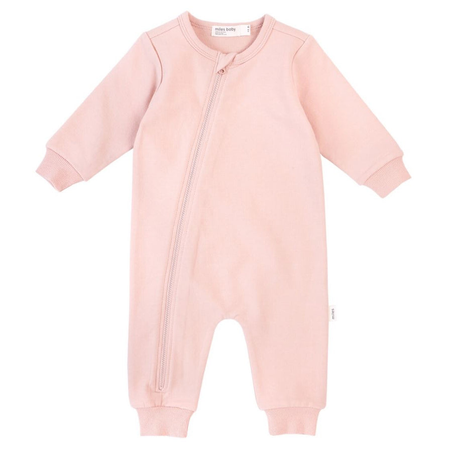 19YM36L643 - Miles Basic Baby Girls Light Pink Playsuit Jumpsuits / Rompers Miles Baby