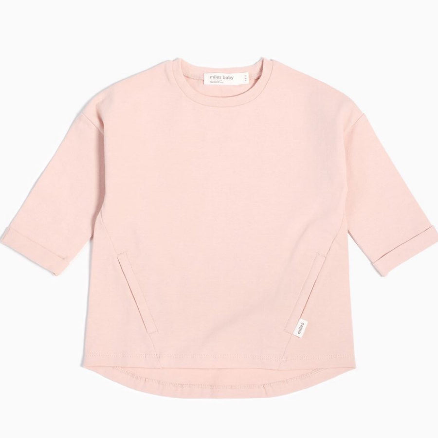 19YM36M823 - MILES BABY Light Pink Long Sleeve Girls Tunic Long Sleeve Shirts Miles Baby
