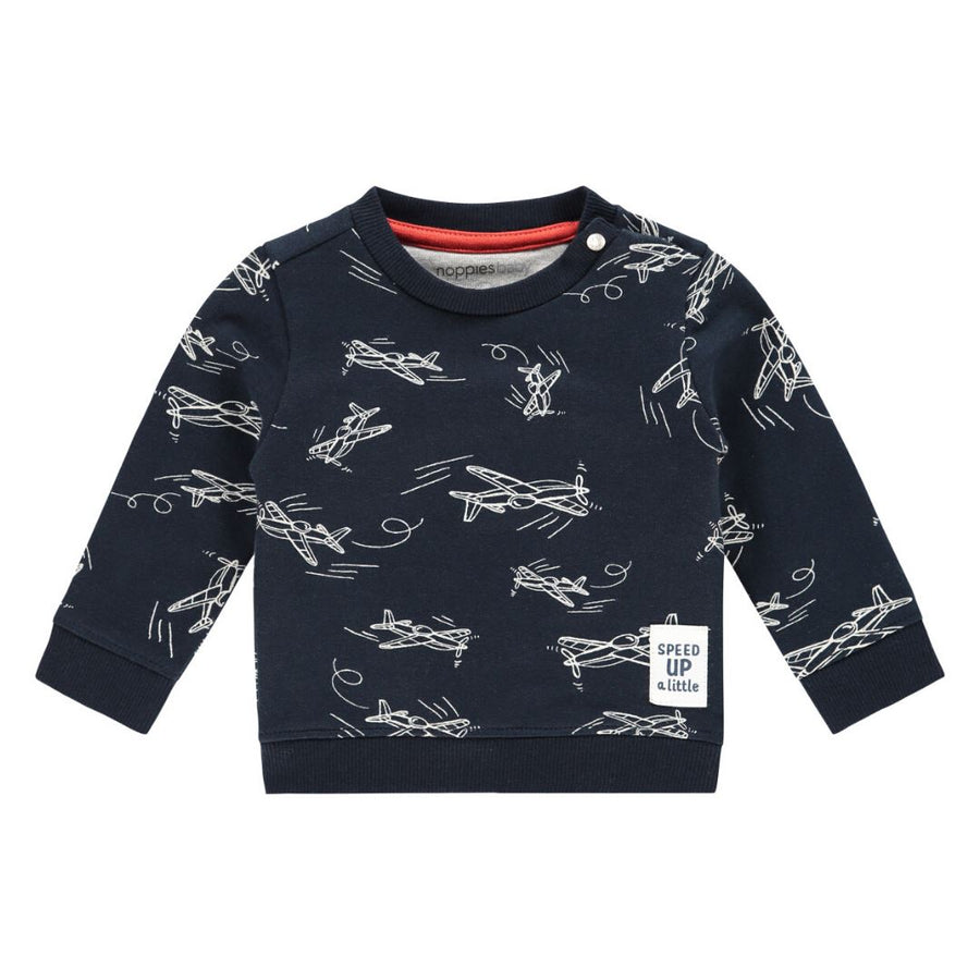 20410216 Noppies Dark Sapphire Archdale Baby Sweatshirt Sweatshirt Noppies