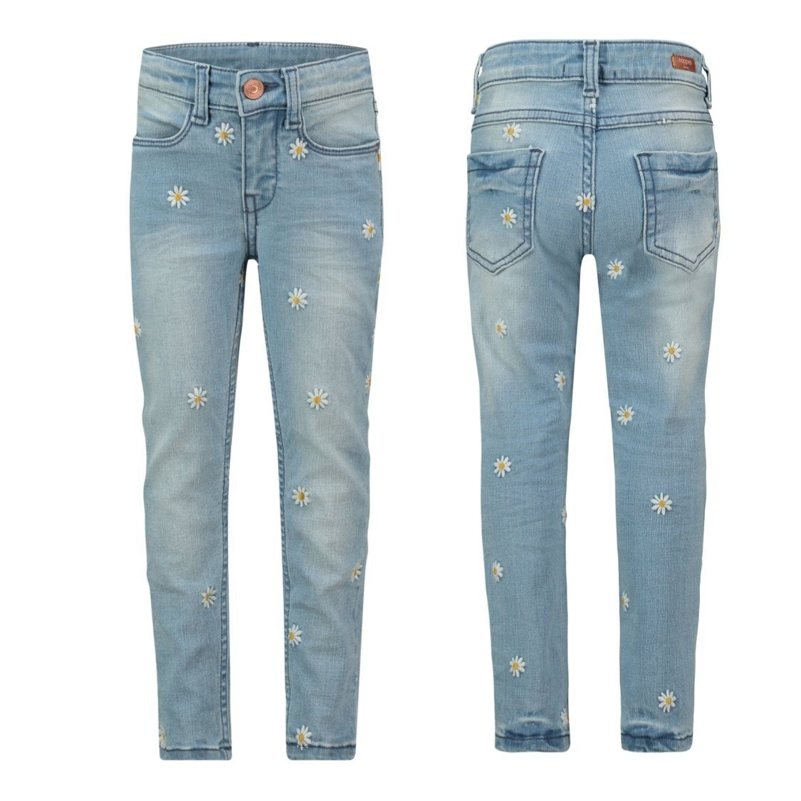 20511011-P493 Noppies Medium Blue Girls Cupertino Daisy Denim Pants Noppies