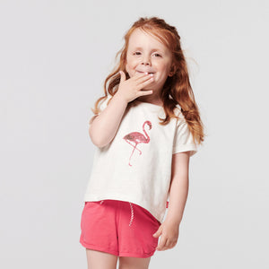 20530013-P002 Noppies Flamingo Girls Clewiston Tee Short Sleeve Shirt Noppies