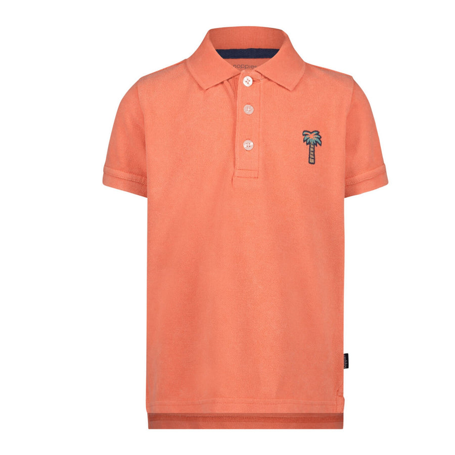 20530018-P461 Noppies Joppatown Fresh Salmon Polo Shirt Short Sleeve Shirt Noppies