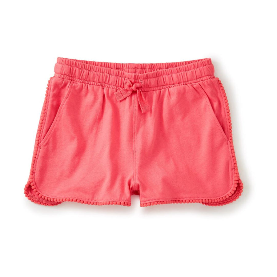 20M12203-967 Tea Collection Neon Rosa Girls Pom Pom Trim Shorts Shorts Tea Collection