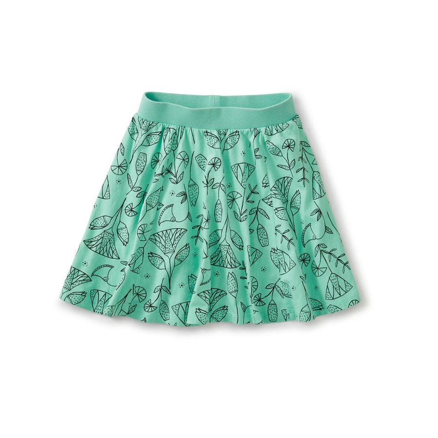 20M12204-Y58 Tea Collection Pharaonic Floral Cascade Girls Twirl Skort Shorts Tea Collection
