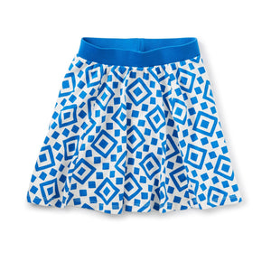 20M12204-Y73 Tea Collection Greek Tile Girls Twirl Skort Shorts Tea Collection