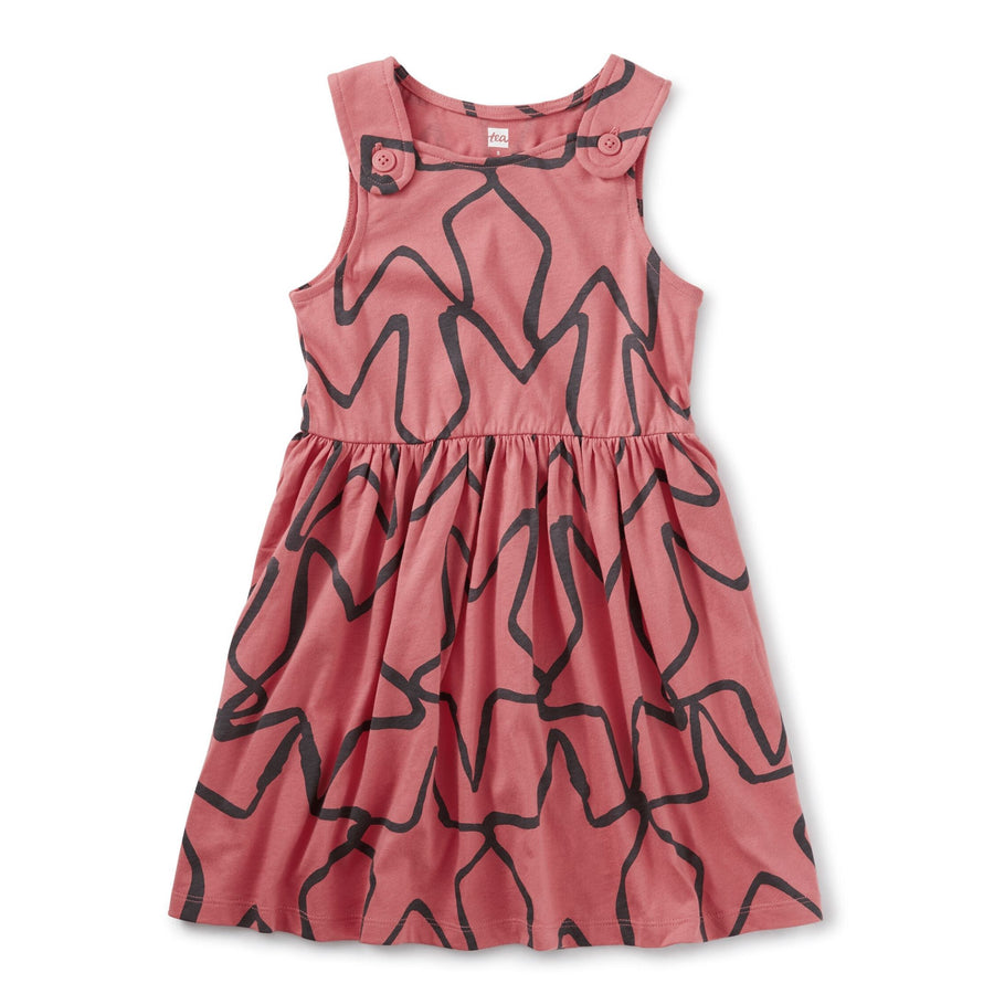 20M12301-Y67 Tea Collection Desert Rose Starfish Buttoned Shoulder Girls Dress Dress Tea Collection