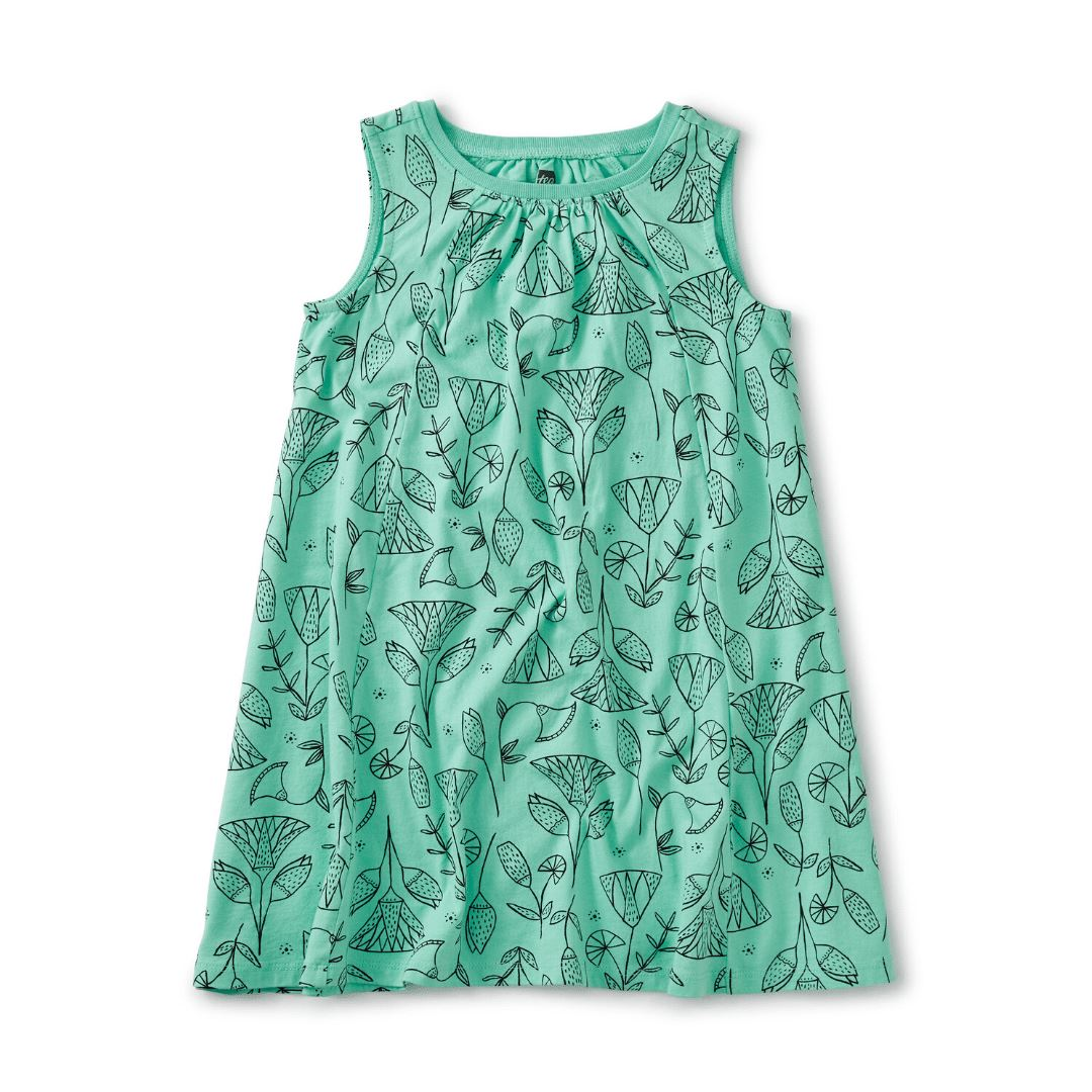 20M12314-Y58 Tea Collection Pharaonic Floral Cascade Girls Trapeze Dress Dress Tea Collection
