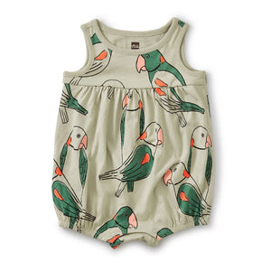 20M32509-Y55 - Tea Collection Desert Sage Parakeets Play Romper Jumpsuits / Rompers Tea Collection