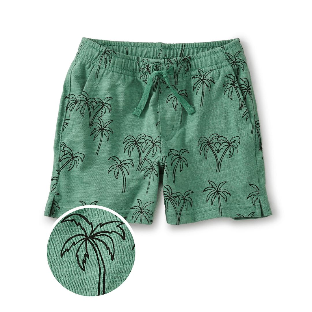 20M42201-Z92 - Tea Collection Palm Print Baby Shorts Shorts Tea Collection