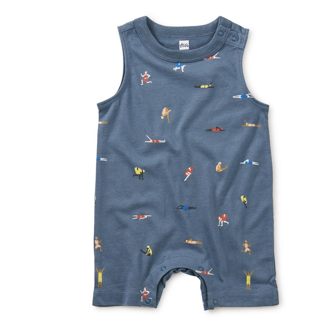 20M42510-Y78 - Tea Collection Olympians Baby Tank Romper Romper Tea Collection
