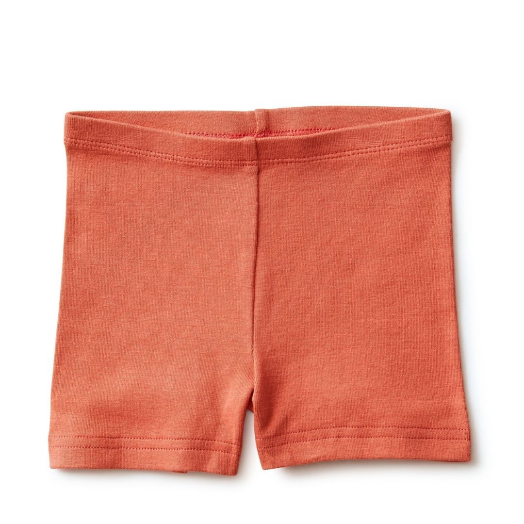 20S12212-994 Solid Aster Girls Faded Rose Somersault Shorts Shorts Tea Collection