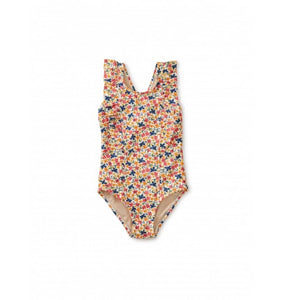20S12610-Y80 Tea Collection Cyprus Floral Ruffle One-Piece Girls Swimsuit Swimwear Tea Collection
