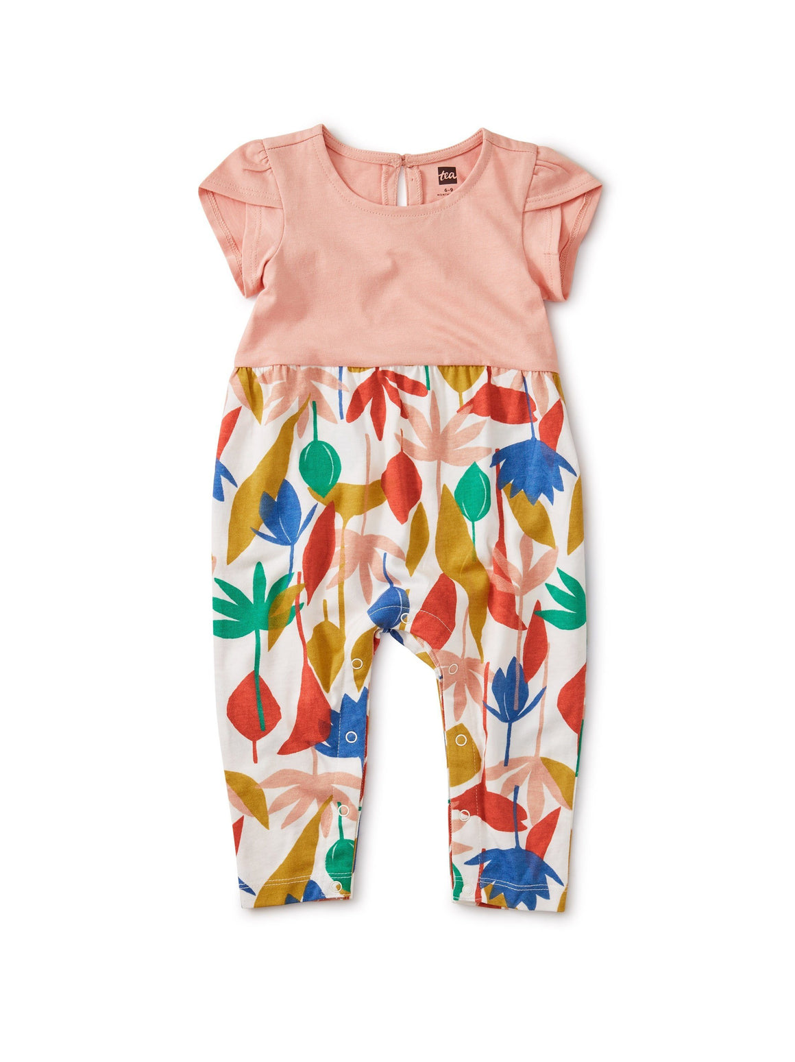 20S32510-Y40 Tea Collection Egyptian Floral Tulip Sleeve Baby Girls Romper Jumpsuits / Rompers Tea Collection