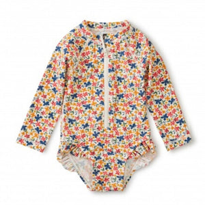 20S32603-Y80 - Tea Collection Cyprus Floral Baby Girls Rash Guard One Piece Bathing Suit Swimwear Tea Collection