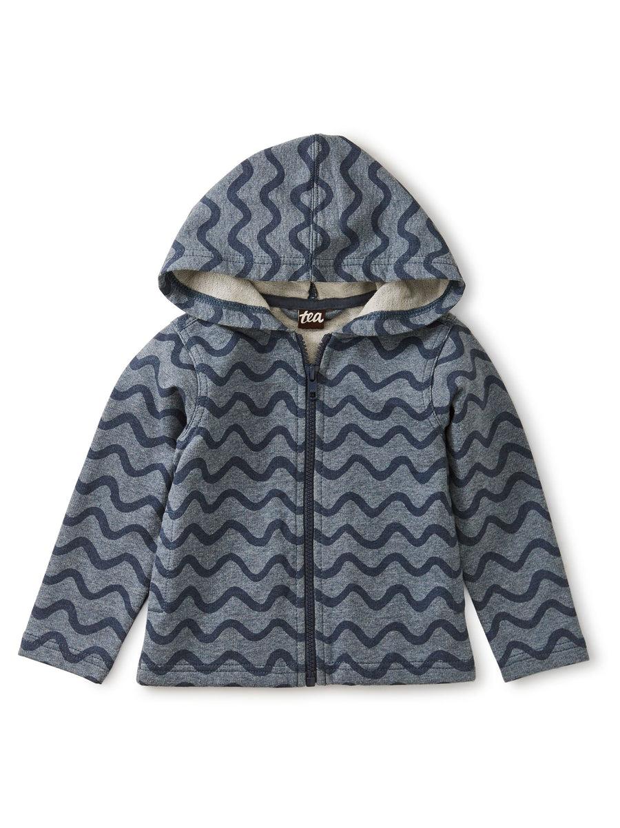 20S42106-Y38 - Tea Collection Aegean Waves Baby Zip Hooded Sweatshirt Sweatshirt Tea Collection