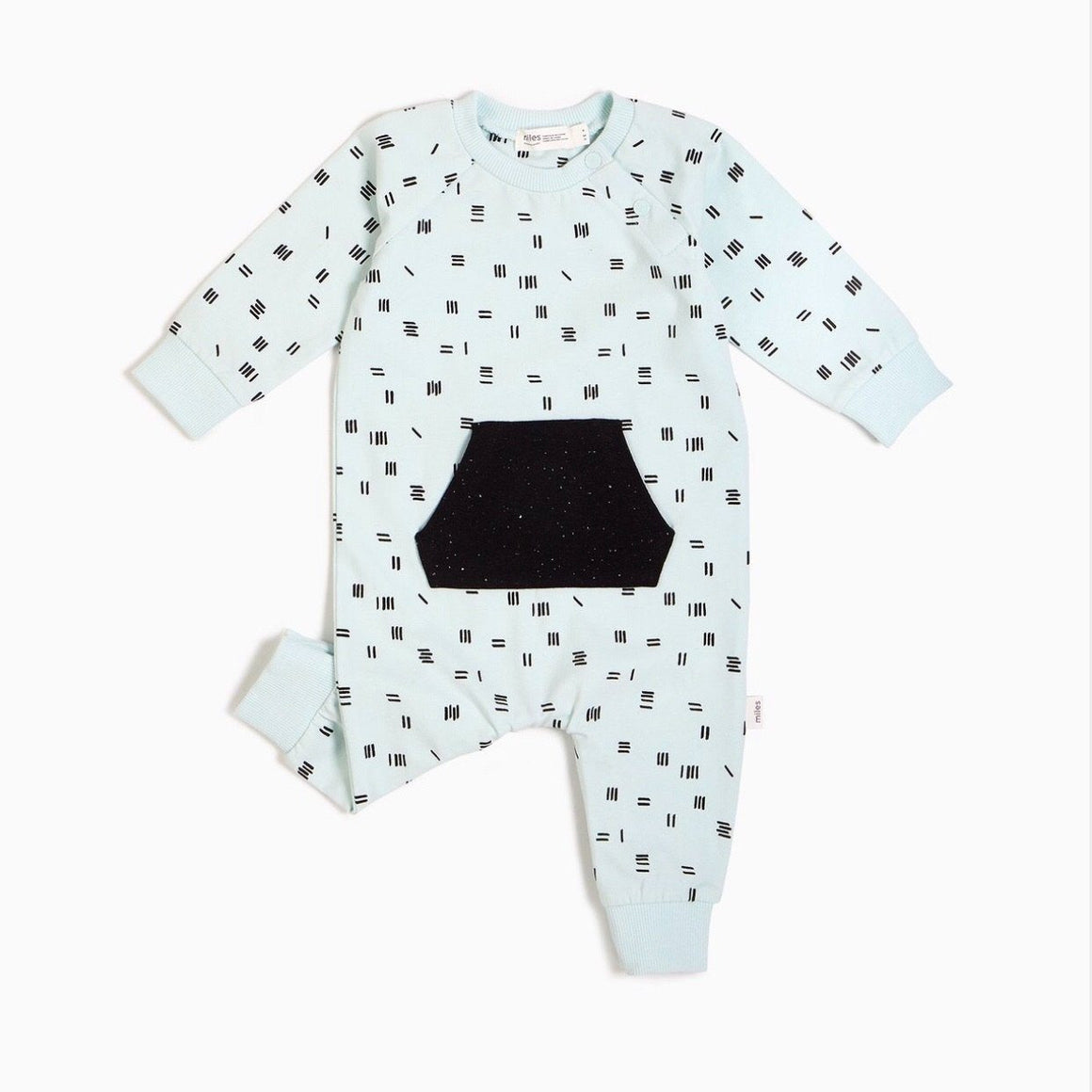 20SMW51316 - Miles Basic Unisex Baby Chalk Lines Playsuit Jumpsuits / Rompers Miles Baby