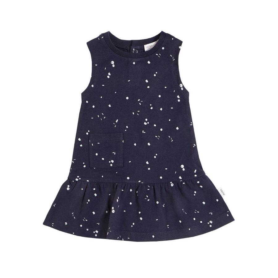 20SMW55604 Miles Baby - Girl's Dress - Navy Dress Miles Baby