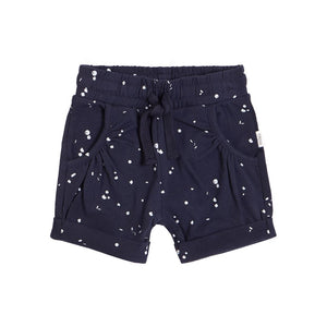 20SMW55813 - MILES BABY Girl's Printed Shorts - Navy Shorts Miles Baby