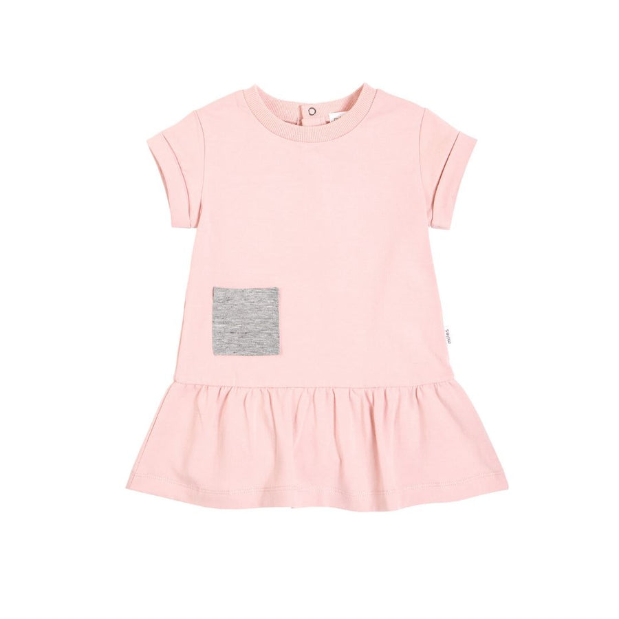 20YMB36619 - MILES BABY Basics Dress - Light Pink Dress Miles Baby 18 months