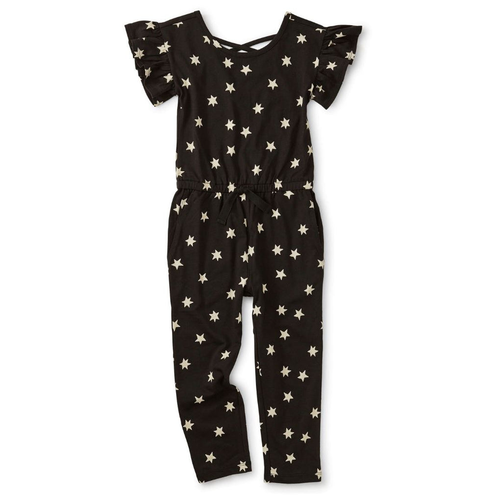 21S12500-N25 Tea Collection Girls Astral Stars Scoop Back Ruffle Jumpsuit Jumpsuit Tea Collection
