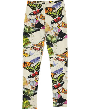 2S20F205 Molo Niki Papillon Butterflies Organic Cotton Leggings Leggings Molo