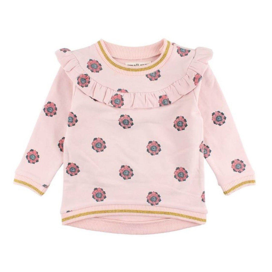 60719 Small Rags - Floral Peach Whip Girls Sweatshirt Sweatshirt Small Rags