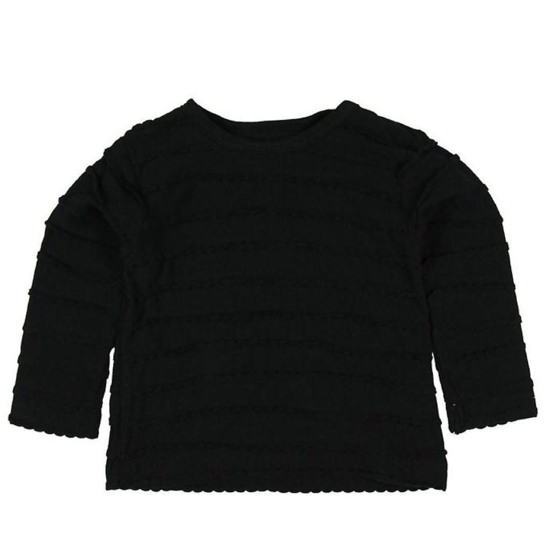 60737 Small Rags - Hella Girls Black Long Sleeve Shirt Long Sleeve Shirt Small Rags 12-18 Months