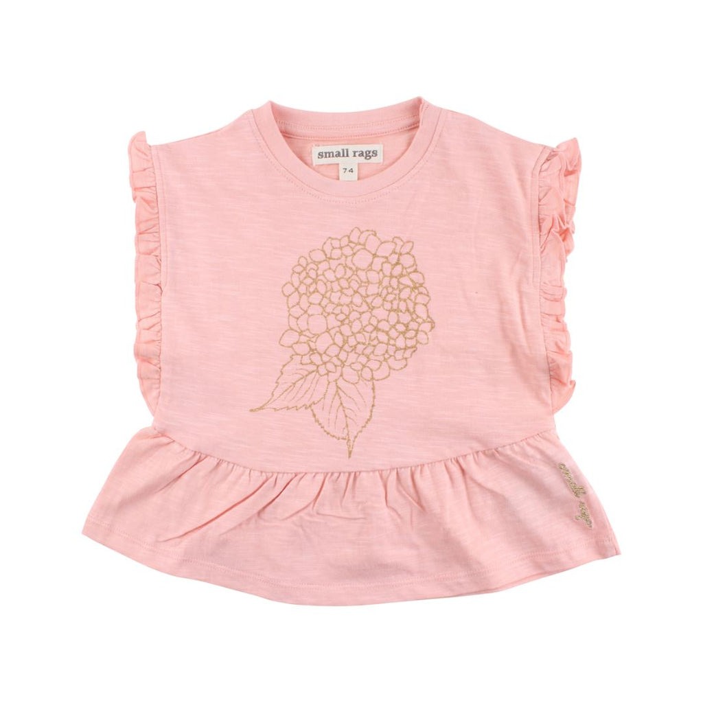 60838 Small Rags - Coral Cloud Girls Short Sleeve Top Short Sleeve Shirts Small Rags